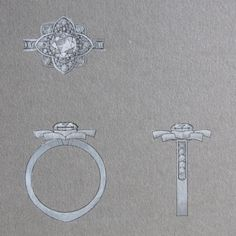 Watercolor traditional rendering www.alicemagnin.com #diamondring #pinkdiamond #monaco #bespokejewellery