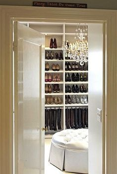 turn bedroom into dressing room | wonder if I could turn one of our guest bedrooms into this closet.