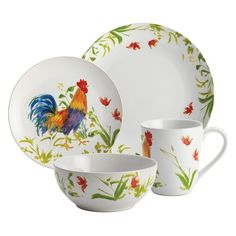 Bonjour Meadow Rooster 16 Piece Dinnerware Set  sc 1 st  Pinterest & SONOMA life + style Evelyn Bloom 16-pc. Dinnerware Set | Home ...