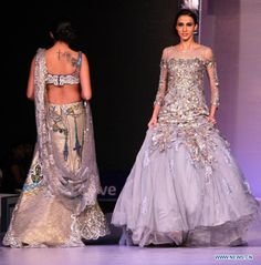 silver lehenga, sparkly bridal gown by payal jainINDIA-RAJASTHAN FASHION WEEK 2013