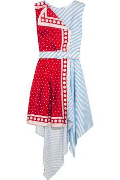 Monse | Asymmetric printed silk-twill mini dress | NET-A-PORTER.COM