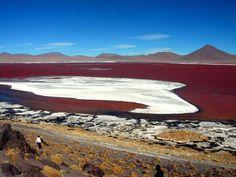 la Laguna Roja o Lago Colorado es una de las maravillas que se encuentran cerca del pueblo de Nama, en la Región de Tarapacá. Está situada a 3.700 metros sobre el nivel del mar y su intenso color rojo llama la atención en medio del desierto.  En la zona no sólo se encuentra está la laguna roja, sino que también se puede encontrar la versión amarilla y verde.
