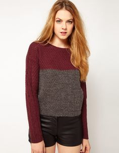 I'm starting to think about what I'll be wearing come fall— this color-block sweater is on my list.
