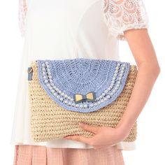 MINIMUM 2way crochet clutch bag