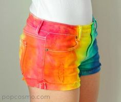DIY Clothes DIY Refashion: Tie-Dye Shorts