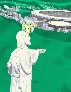 """Day 524 """"Jesus Loves Soccer (GIF)"""" by Matt Chinworth (follow his tumblr TypeSWAMP where he creates a new design every single day) You know H..."""