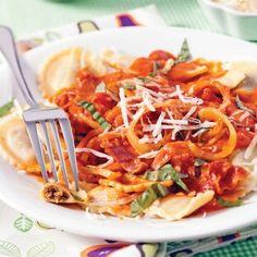 Agnolottis au prosciutto, sauce rosée - Soupers de semaine - Recettes 5-15 - Recettes express 5/15 - Pratico Pratiques