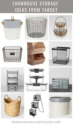 target home decor home decor homedecor Farmhouse Storage Ideas from Target - gift idea - gift round up - From the Family