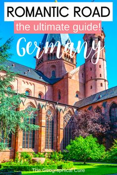 Planning a vacation in Germany? If so, you likely have a drive down the Romantic Road on your Germany bucket list. There's nowhere more romantic than the Romantic Road. This epic Romantic Road itinerary and travel guide takes you to all the most beautiful towns, historic landmarks, and must visit destinations on the Romantic Road. You'll be dazzled by storybook villages and quaint towns. A road trip down the Romantic Road is a must do in Germany. Germany Itineraries | Bavaria Itineraries