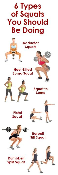 6 Types Of Squats You Should Be Doing