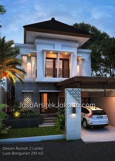 Desain Rumah Modern Minimalis 2 Lantai Bandung Jabar Lahan Luas