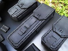 Link through to a great foam armour painting tutorial but these EVA foam pockets are like eye candy.