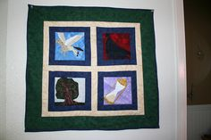 POA Wall Hanging-Paper Pieced by anncburt, via Flickr
