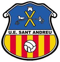 UE Sant Andreu of Barcelona, Spain crest. Fifa, Soccer Logo, Soccer Teams, Bike Gloves, Sports Clubs, Football Team, Team Logo, Badge, Barcelona Spain