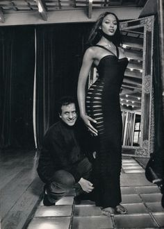 King of Cling Alaïa & his muse Naomi Campbell - ready to conquer with curves #Alaia #StyleIcon