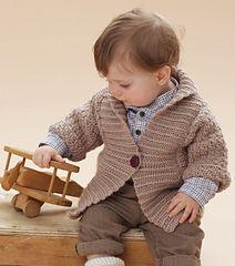 Shawl Collar Cardigan - Free Crochet Pattern