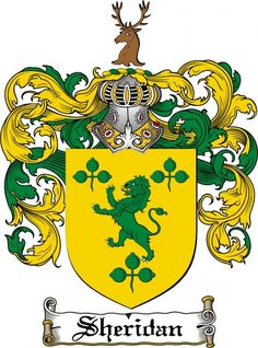 Sheridan Coat of Arms Sheridan Family Crest Instant Download - for sale, $7.99 at Scubbly