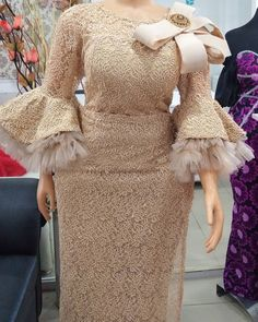 Nigerian Lace Styles Dress, African Party Dresses, African Lace Styles, Lace Dress Styles, Latest African Fashion Dresses, African Dresses For Women, African Print Dresses, African Print Fashion, African Attire