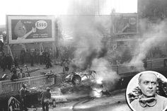 Deadliest racing crash in history. Le Mans 24 hour race in France on 6/11/1955.  The crash killed Mercedes Benz 300 SLR driver, Pierre Levegh, and 83 spectators with 120+ injured. Tap on photo to read details.