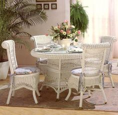 The Classic Wicker Dining Set Gives You A Beautiful Traditional Wicker Look  And Available In Multiple Colors.
