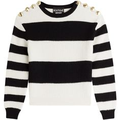 Boutique Moschino Striped Wool Sweater (1,065 PEN) ❤ liked on Polyvore featuring tops, sweaters, shirts, stripes, long sleeve tops, slim shirt, long sleeve shirts, long sleeve stripe shirt and long sleeve sweaters