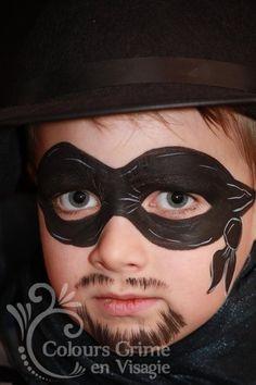 Boys Stuff facepaint face painting  paint pirate zorro mask bandit