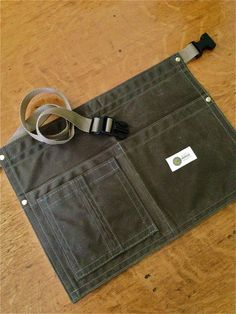 Image of Handcrafted Waxed Canvas Waist Apron. 10.10 oz Waxed Canvas Utility Apron.