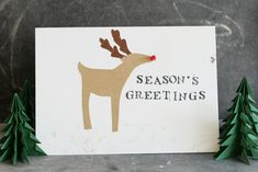 "Stephanie has a really fun one for us today! I think kids would love to get in on making a card like this! Here's Stephanie: I thought I would add a little ""geek"" to our greeting cards this year, and add a simple circuit to create a light-up reindeer! Supplies recycled card blanks and envelopes …"
