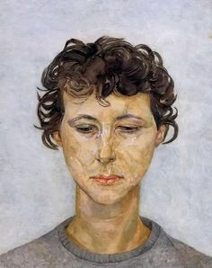 Lady Anne Tree (Head of a Woman) - Lucien Freud , 1950 British, 1922-2011 Oil on canvas