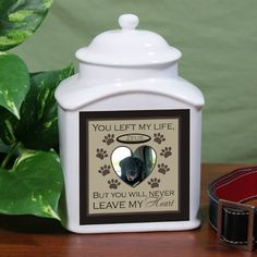 Personalized Pet Photo Ceramic Urn