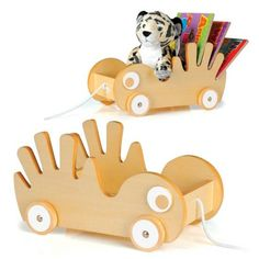 WORDS ON WHEELS. P'kolino Book Buggee, fun loving + super cute way to make books a part of kids everyday play! $35.99