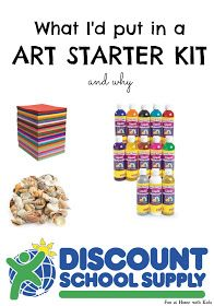 Fun at Home with Kids: Starter Art Kit from Discount School Supply