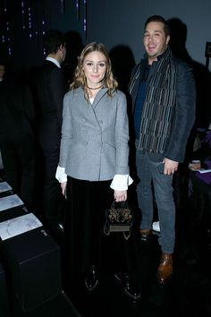 Olivia Palermo and Lucas Somoza attend the Elie Saab show as part of the Paris Fashion Week Womenswear Fall/Winter 2017/2018 on March 4 2017 in Paris...