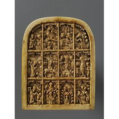 Panel - carved ivory (mammoth)  Moscow or Novgorod, Russia 16th Century