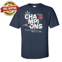 Details about New England Patriots AFC Champions T-Shirt Super Bowl 53 ed8181f3b