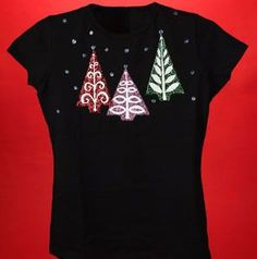 Make this Colorful Christmas Tree Tee. The colors are so cute and the Christmas shirt is so festive! Tacky Christmas Party, Christmas Tree Ugly Sweater, Christmas Tops, Colorful Christmas Tree, Christmas Shirts, Christmas Ideas, Christmas Decorations, Ugly Sweater Contest, Xmas Shirts