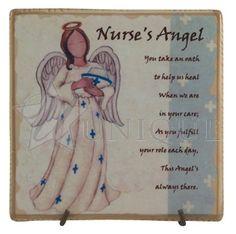 Nurse's Angel Ceramic Tile