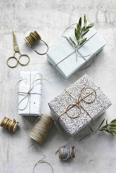 Patterned gift wrap.