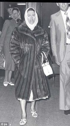 """""""This fur coat by Christian Dior was donned by Princess Margaret, c.1960s"""" Daily Mail."""