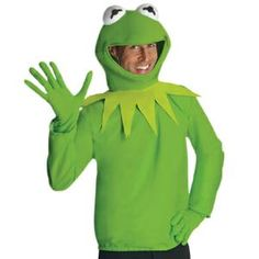 Adult Kermit The Frog Sesame Street Muppet Costume at Nightmare Factory  sc 1 st  Pinterest & Homemade Miss Piggy And Kermit Costumes---miss piggy part for mom ...