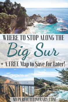 The ultimate guide to planning a Big Sur Road Trip! This one day itinerary covers EVERYTHING you need to know before traveling to the Big Sur. Big Sur California, California Travel Guide, California Vacation, California Coast, Italy Vacation, Northern California, Places To Travel, Places To See, Travel Destinations
