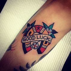 http://tattoo-ideas.us/wp-content/uploads/2014/03/Traditional-Luck-Tattoo.jpg Traditional Luck Tattoo #Classictattoos, #Symboltattoos