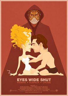 EYES WIDE SHUT - Eyes Wide Shut - 1999 - Stanley Kubrick. Poster en ingles con diseño de Kyle Lambert