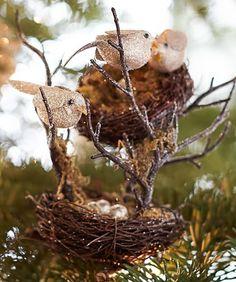 Glittery Birds Nest Ornament http://rstyle.me/n/tgmaebh9c7