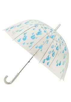 Raindrops Keep Falling Umbrella. This clear bubble umbrella is both immensely stylish and will keep you dry while allowing maximum visibility!  #modcloth