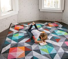 Here and There Squares Quilt