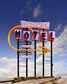 Ed Freeman: Sundowner Motel, Desert Shores CA  'This was next to a lake. Everyone thought it was going to be a great resort, but it became very polluted and all these fancy motels fell apart'