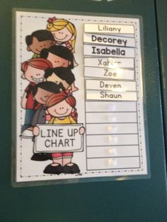 The Bender Bunch: Line up chart for the sped classroom!