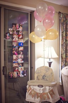 I like the number 1 made out of pictures from her 1st year. And add her name on a banner around the high chair