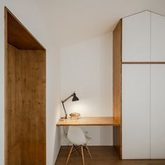 Image 19 of 28 from gallery of Gafanha House / Filipe Pina. Photograph by João Morgado House Built Into Hillside, Small Living, Living Spaces, Home Office, Old Stone Houses, Architectural Features, Concrete Patio, Modular Design, Contemporary Interior